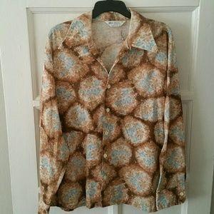 Vtg. Floral Print Shirt